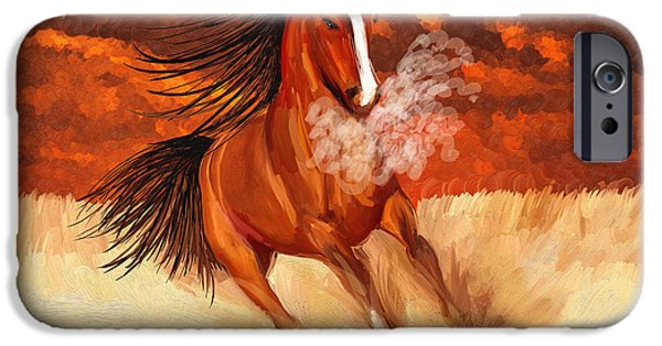 The Horse iPhone Cases - Strong Horse iPhone Case by Angela A Stanton