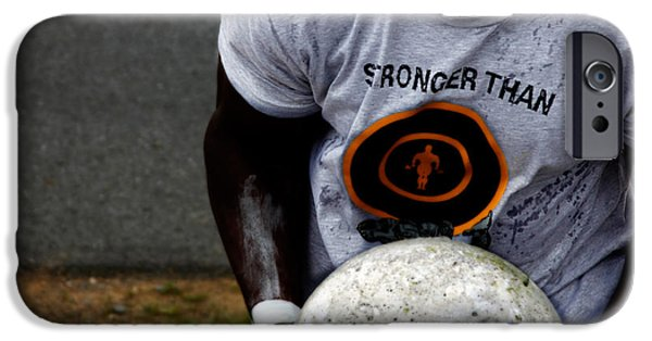 Male Athlete iPhone Cases - Stronger Than...  iPhone Case by Steven  Digman
