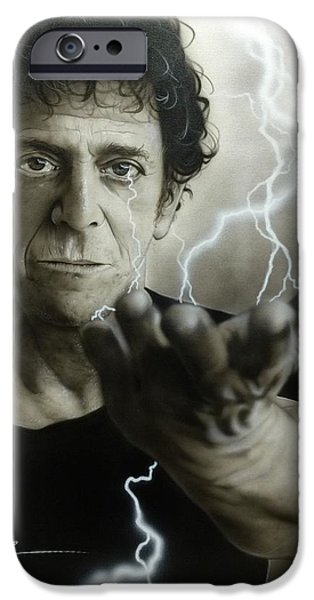 Musicians Framed Prints iPhone Cases - Struck by the Power and the Glory iPhone Case by Christian Chapman Art