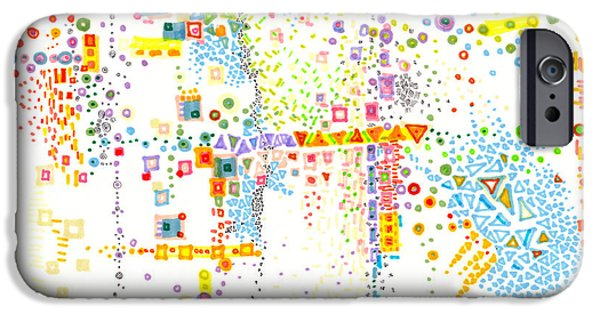 Disorder Drawings iPhone Cases - Structure Evolution iPhone Case by Regina Valluzzi