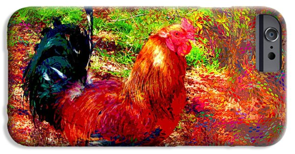 Recently Sold -  - Business Digital iPhone Cases - Strutting In Living Color iPhone Case by Joyce Dickens