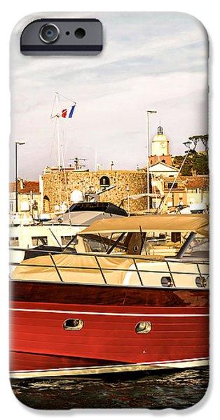 St.Tropez harbor iPhone Case by Elena Elisseeva