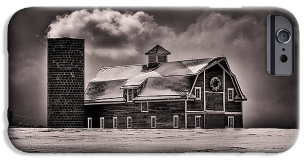 Barn Print Photographs iPhone Cases - Stuck in the Cold iPhone Case by Darren  White