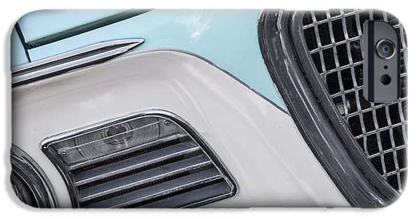 Automotive iPhone Cases - Turquoise and White iPhone Case by Dennis Hedberg