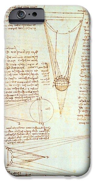 Study iPhone Cases - Studies of the Illumination of the Moon iPhone Case by Leonardo Da Vinci