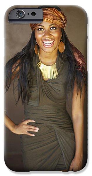 Studio Portrait of African American Model iPhone Case by Kicka Witte
