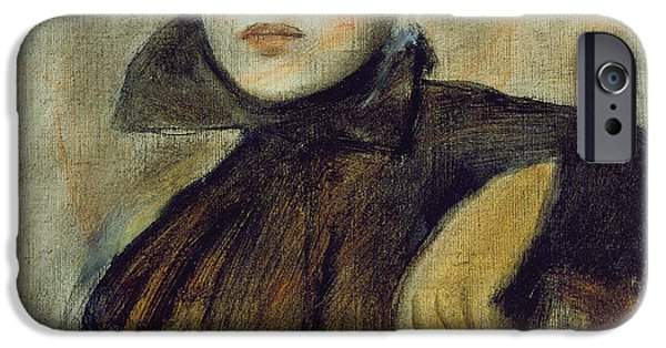 Preparatory Study iPhone Cases - Study for a Portrait of a Lady iPhone Case by Edgar Degas