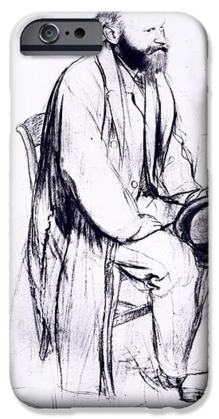Thinking Pastels iPhone Cases - Study for a portrait of Manet iPhone Case by Edgar Degas