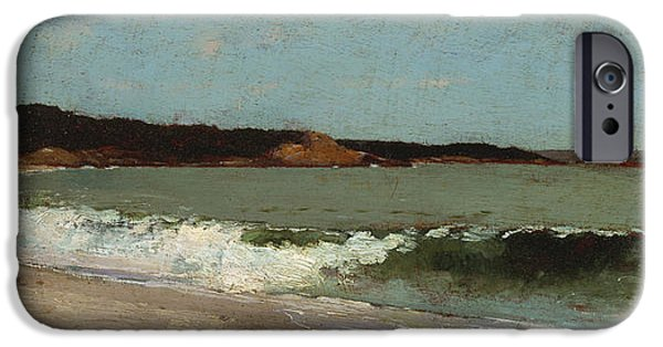 Nature Study Paintings iPhone Cases - Study for Eagle Head - Manchester Massachusetts iPhone Case by Winslow Homer