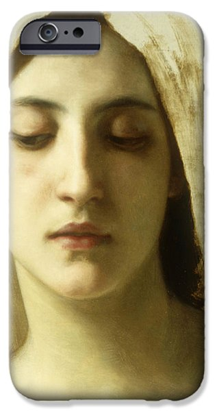 Thinking iPhone Cases - Study for La Charite iPhone Case by William-Adolphe Bouguereau