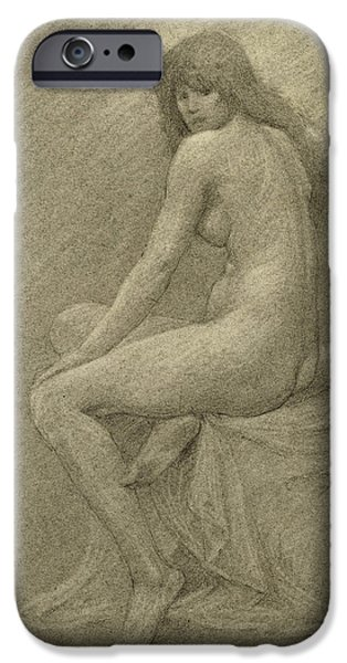 Beautiful Drawings iPhone Cases - Study for Lilith iPhone Case by Robert Fowler