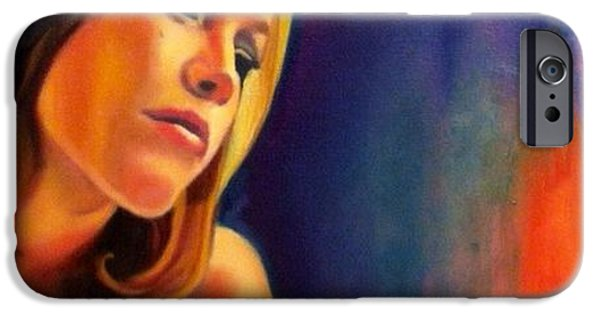 Young Paintings iPhone Cases - Study for Reservation  iPhone Case by Ashley Gilbert