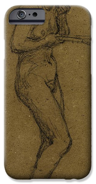 Study iPhone Cases - Study for Shuttlecock iPhone Case by Albert Joseph Moore