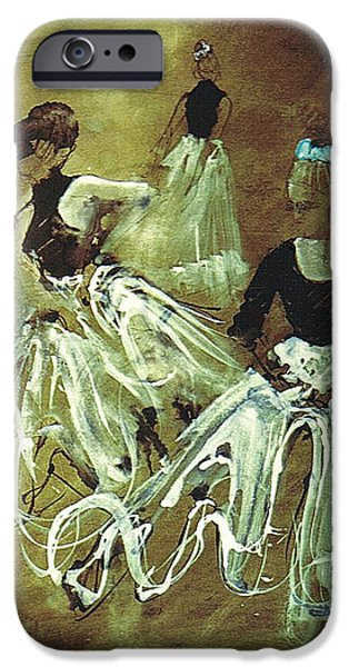 Study for Spanish Rehearsal iPhone Case by Podi Lawrence