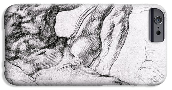 Study iPhone Cases - Study for the Creation of Adam iPhone Case by Michelangelo