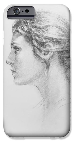 Study in Profile iPhone Case by Sarah Parks