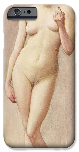 Study iPhone Cases - Study of a Nude II iPhone Case by Murray Bladon