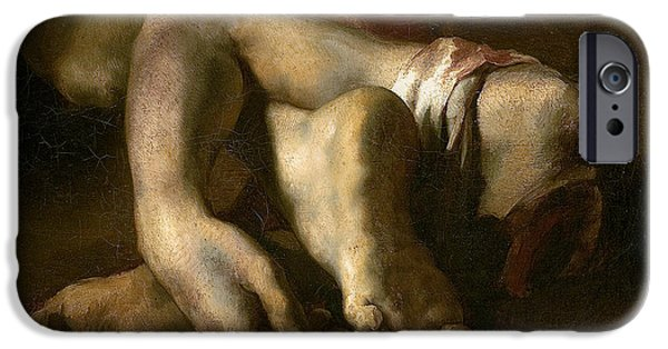 Romanticism iPhone Cases - Study Of Feet And Hands, C.1818-19 Oil On Canvas iPhone Case by Theodore Gericault
