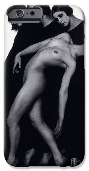 Odalisque iPhone Cases - Study of Movement iPhone Case by Rudolph Koppitz