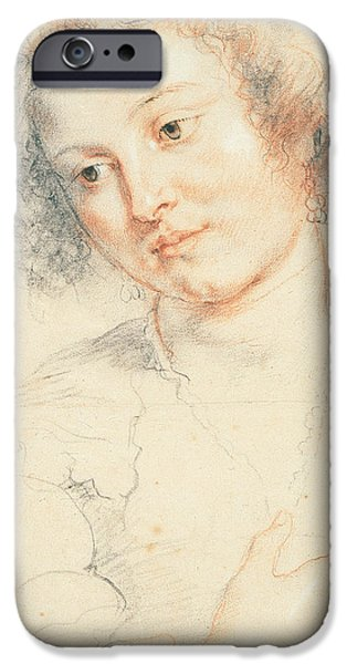 Study iPhone Cases - Study of the Head of St. Apollonia iPhone Case by Peter Paul Rubens