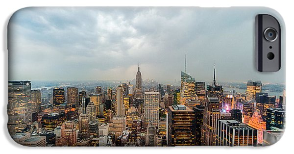 City Scape iPhone Cases - Stunning Empire III iPhone Case by Ray Warren