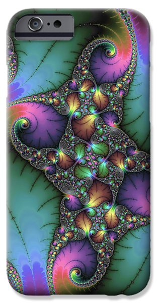 Fractals Fractal Digital Art iPhone Cases - Stunning mandelbrot fractal iPhone Case by Matthias Hauser