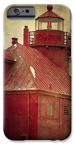 Chicago iPhone Cases - Sturgeon Bay Beacon iPhone Case by Joan Carroll