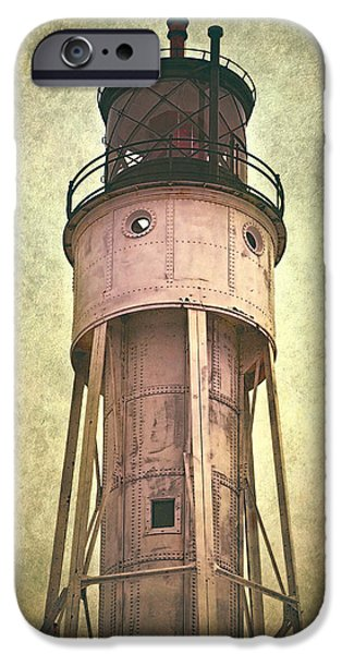 Fall iPhone Cases - Sturgeon Bay Ship Canal Lighthouse iPhone Case by Joan Carroll