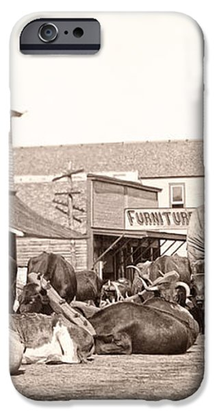 STURGIS SOUTH DAKOTA c. 1890 iPhone Case by Daniel Hagerman