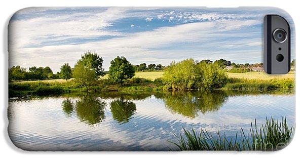 Nature Study iPhone Cases - Sturminster Newton - River Stour - Dorset - England iPhone Case by Natalie Kinnear