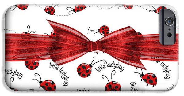 Ladybug iPhone Cases - Stylish Ladybugs iPhone Case by Debra  Miller