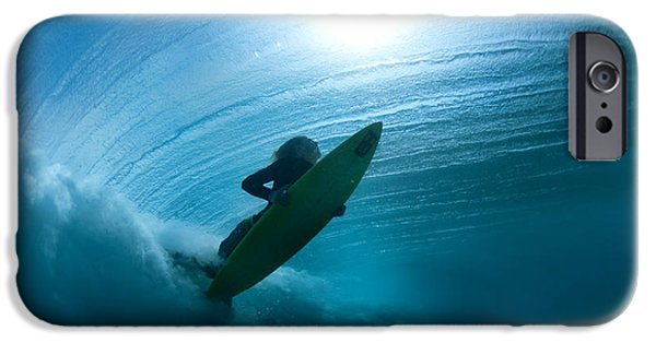Blue Green Wave iPhone Cases - Sub Stellar iPhone Case by Sean Davey