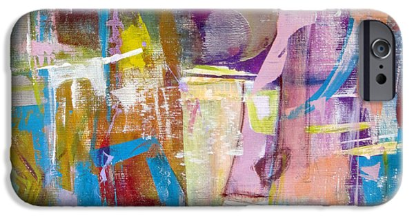 Concept Paintings iPhone Cases - Subjective iPhone Case by Katie Black