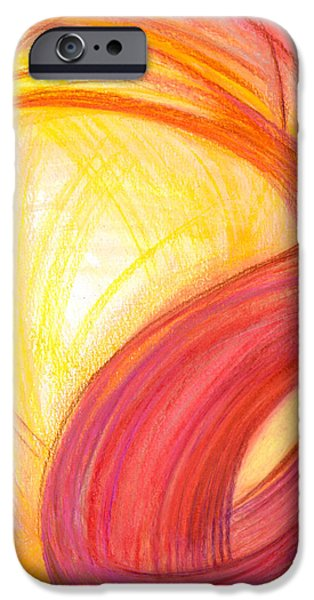 Power Lines Drawings iPhone Cases - Sublime Design-V1 iPhone Case by Kelly K H B
