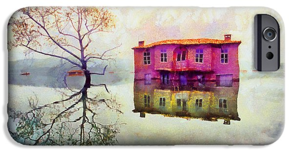 Weeping Drawings iPhone Cases - Submerged reflections iPhone Case by George Rossidis