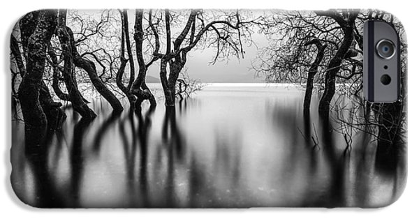Submerged iPhone Cases - Submerging Trees iPhone Case by John Farnan