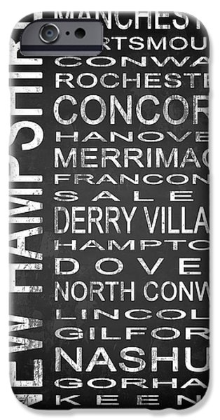 East Village iPhone Cases - SUBWAY New Hampshire State 1 iPhone Case by Melissa Smith