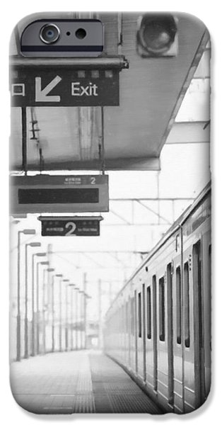 Stainless Steel Paintings iPhone Cases - Subway station 4 iPhone Case by Lanjee Chee