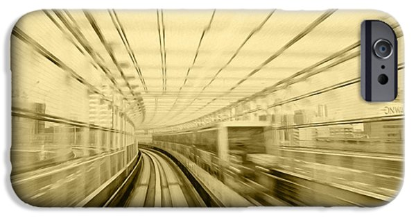 Stainless Steel Paintings iPhone Cases - Subway station 5 iPhone Case by Lanjee Chee