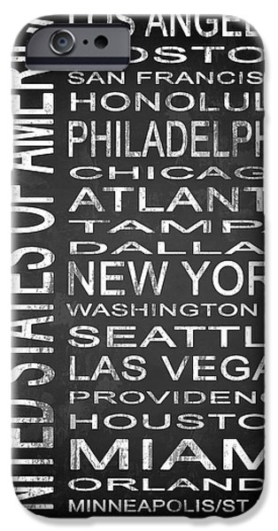 D.c. Mixed Media iPhone Cases - SUBWAY United States 1 iPhone Case by Melissa Smith