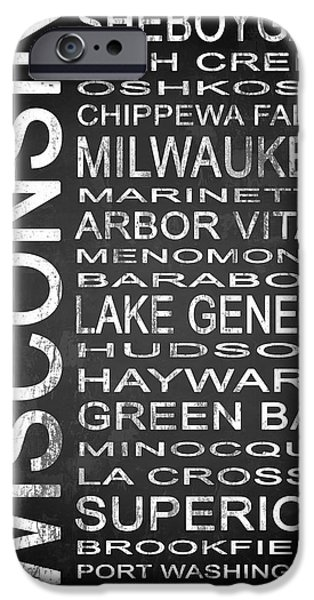 Creek Mixed Media iPhone Cases - SUBWAY Wisconsin State 2 iPhone Case by Melissa Smith
