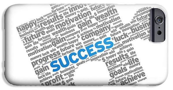Business Drawings iPhone Cases - Success Puzzle iPhone Case by Aged Pixel