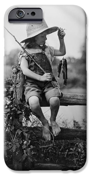 Tomboy iPhone Cases - SUCCESSFUL DAY of FISHING  1919 iPhone Case by Daniel Hagerman