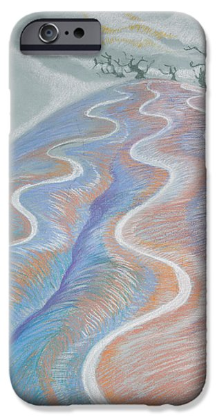 Tracks Pastels iPhone Cases - Successful Harvest iPhone Case by Zuzana Drobnik