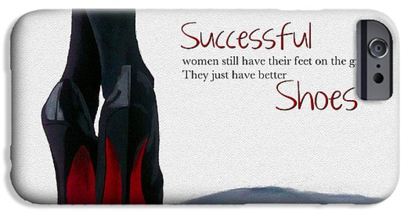 Shoe iPhone Cases - Successful Woman iPhone Case by Rebecca Jenkins