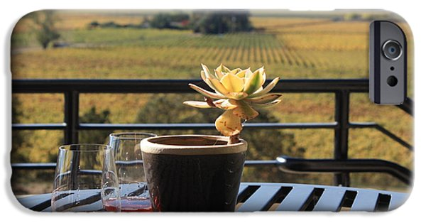Vineyard In Napa iPhone Cases - Succulent Napa Valley iPhone Case by Penelope Moore