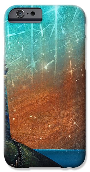 Lighthouse Paintings iPhone Cases - Such A Night As This iPhone Case by Cindy Thornton
