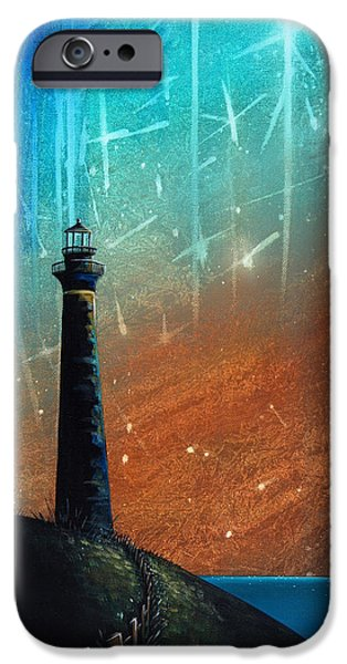 Lighthouse iPhone Cases - Such A Night As This iPhone Case by Cindy Thornton