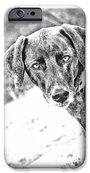 Such a Pretty Girl iPhone Case by Peggy Collins