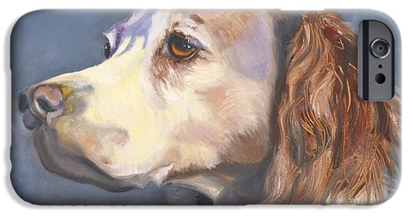 Springer Spaniel iPhone Cases - Such a Spaniel iPhone Case by Susan A Becker